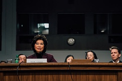 Chao at her confirmation hearing to be Secretary of Transportation