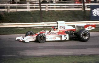Emerson Fittipaldi finished in second place for McLaren.