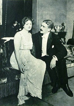 Ethel Barrymore and Claude King in the Broadway production of Déclassée (1919)