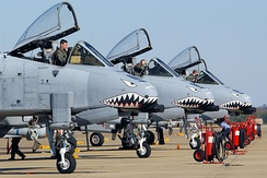 23rd Fighter Group A-10 Thunderbolt IIs on alert