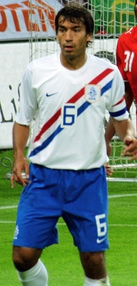 Van Bronckhorst as captain of the Netherlands.