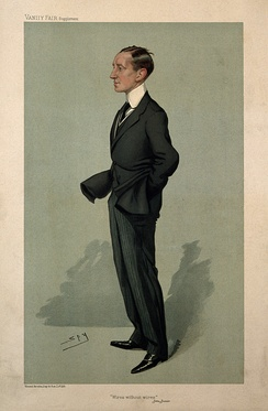 Marconi caricatured by Leslie Ward for Vanity Fair, 1905
