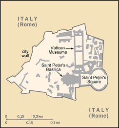An enlargeable map of Vatican City