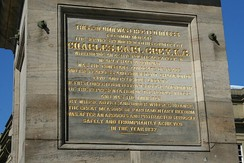 Inscription on Grey's Monument, Newcastle upon Tyne, England