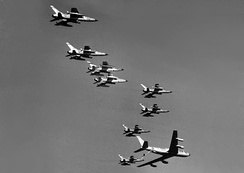 F-105Ds refueling en route to North Vietnam in 1965