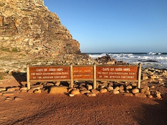 Sign at the Cape of Good Hope, 2018