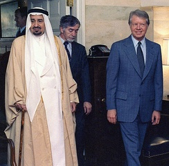 Carter with King Khalid of Saudi Arabia in October 1978