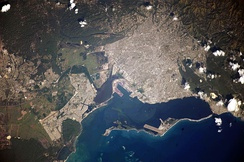 Photo of Kingston taken from the International Space Station