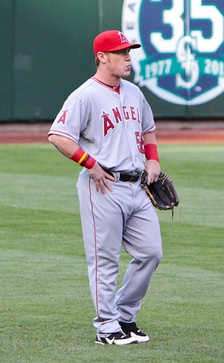 Calhoun with the Angels in 2012