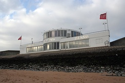 Designed by Ove Arup in 1932, the Labworth Café is a listed building situated on Canvey Island's seafront.