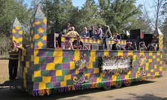 Mardi Gras float in Lizana, Mississippi, 2011