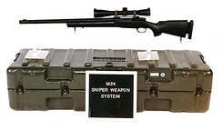 The M24 SWS military sniper rifle, based on the Remington 700.