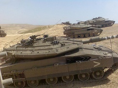 The Merkava features extreme sloped armour on the turret