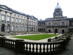 Old College, University of Edinburgh, rebuilt in 1789 according to plans drawn up by Robert Adam