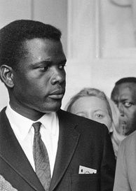 Sidney Poitier, seen here in In the Heat of the Night (1967), considered Steiger and Spencer Tracy to be the finest actors with whom he ever worked.