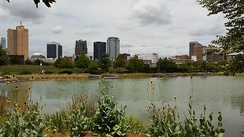 View of Birmingham from Railroad Park