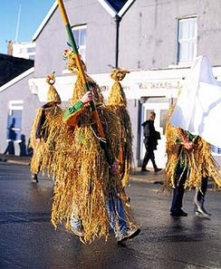Wrenboys on St. Stephen's Day in Dingle, Ireland.