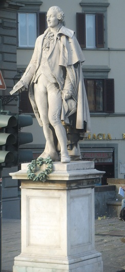 Monument to Goldoni in Florence (sculpted by Ulisse Cambi)