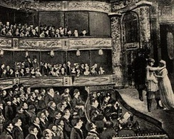 A performance at John Molson's  Theatre Royal, Montreal, 1825