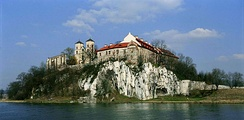 The 11th century Benedictine Abbey in Tyniec overlooks the Vistula.