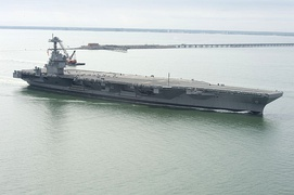 USS Gerald R. Ford (CVN-78), an aircraft carrier from Huntington Ingalls Industries and the lead ship of her class