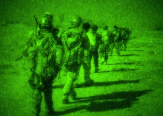 Navy SEALs during night operation in Afghanistan.