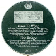Usk Bridge plaque