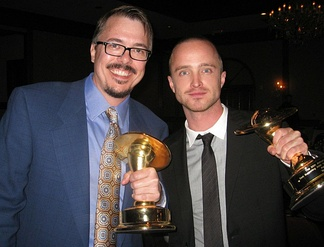 Gilligan and Aaron Paul at the 36th Saturn Awards on June 24, 2010