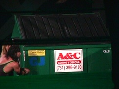 Waltman in a Dumpster match at King of the Ring 2000