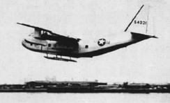 YC-123E with pantobase landing gear