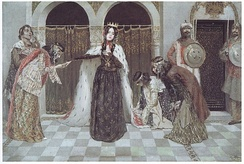 Queen Zabel's Return to the Palace, Vardges Sureniants, (1909)
