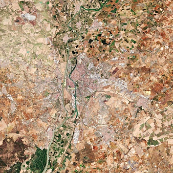 Satellite imagery of Seville (Sentinel-2, Copernicus Programme, European Space Agency)
