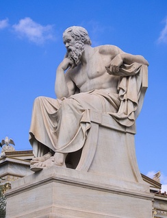 Statue of Socrates in front of the Academy of Athens (modern)
