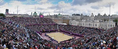 Horse Guards Parade beach volleyball stadium at the 2012 Summer Olympics in London