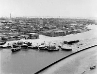 The Al Ras district in Deira and Dubai Creek in the mid 1960s