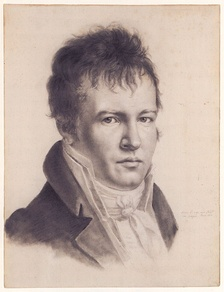 "An 1814 self-portrait in Paris of Alexander von Humboldt. Humboldt is often referred to as the ""father of phytogeography""."