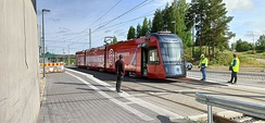 The Artic X34 tram vehicle in Tampere, Finland