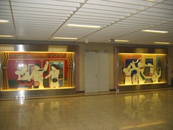 Work of art by Alekos Fassianos located in the metropolitan station.