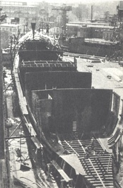 Gdańsk Shipyard, ca 1972. From the 1950s, Kalecki advised the Polish government on economic issues