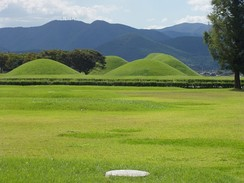 Burial mounds of the Silla kings in Korea