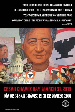 Cesar Chavez Day poster.