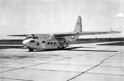 A Chase XG-20 glider, which was later converted to the XC-123A prototype.