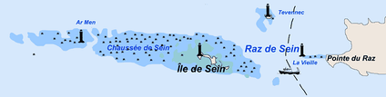 Location of Île de Sein in the Atlantic Ocean