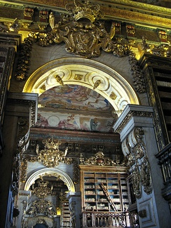 Baroque Library of the Coimbra University, Portugal