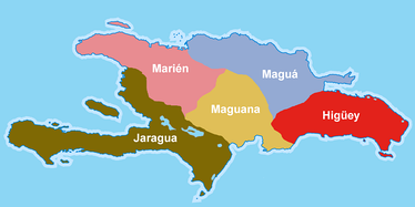 The five caciquedoms of Hispaniola