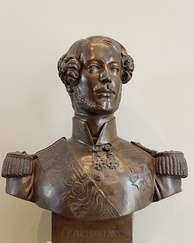 Bust by Pradier, after his death mask, 1842, Louvre