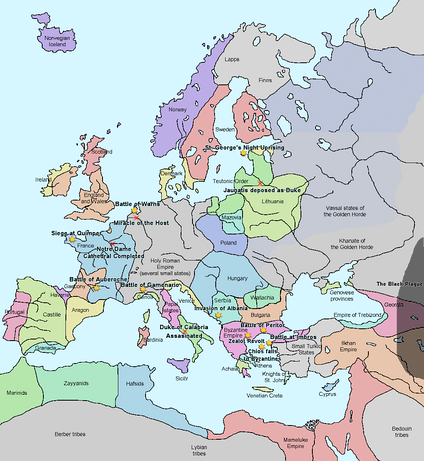 Europe in 1345