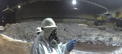 Inspection photo of the slag heap at the Exide facility in April 2014
