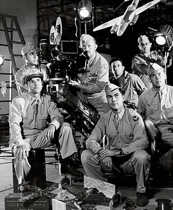A camera crew from the First Motion Picture Unit