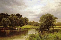 Fishing on the Trent near Ingleby by George Turner, 1850